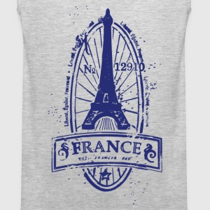 France stamp art T-Shirts - Men's Premium Tank