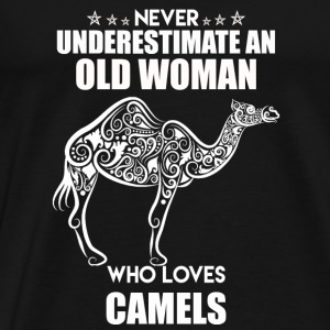 Old Woman Who Loves Camel - Men's Premium T-Shirt