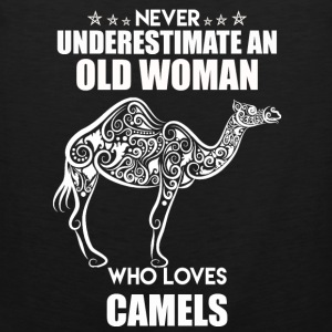 Old Woman Who Loves Camel - Men's Premium Tank