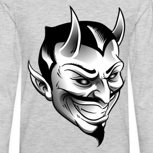 Smiling devil with horns T-Shirts - Men's Premium Long Sleeve T-Shirt