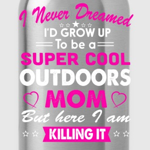 Super Cool Outdoors Mom T-Shirt T-Shirts - Water Bottle