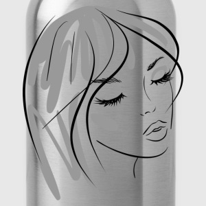 Beauty girl painting art T-Shirts - Water Bottle