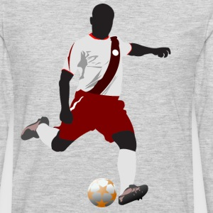Football player playing soccer in euro cup T-Shirts - Men's Premium Long Sleeve T-Shirt