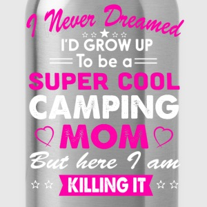 Super Cool Camping Mom Campfire T-Shirt  - Water Bottle