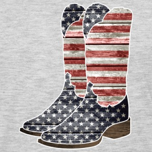 Patriotic Cowboy Boots - Men's Premium Long Sleeve T-Shirt