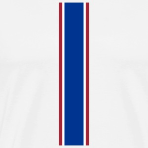 Red White Blue Racing Stripe - Men's Premium T-Shirt