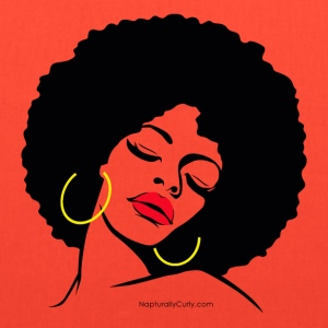 Afro Diva Red Lips (Premium) - Tote Bag