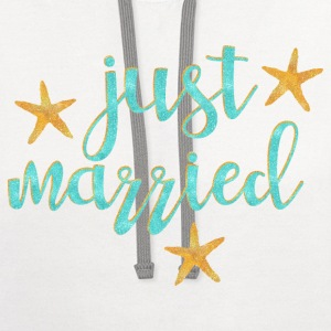 Starfish Just Married Women's T-Shirts - Contrast Hoodie