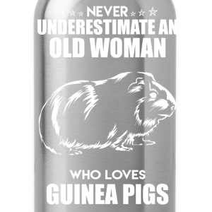 Old Woman Love Guinea Pig - Water Bottle