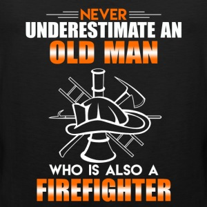 Old Man Firefighter - Men's Premium Tank