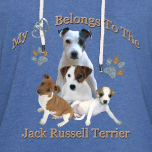 My Hearts Belongs To the Jack Russell Terrier - Unisex Lightweight Terry Hoodie