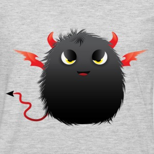 Black devil fluffy ball T-Shirts - Men's Premium Long Sleeve T-Shirt