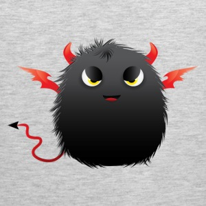 Black devil fluffy ball T-Shirts - Men's Premium Tank