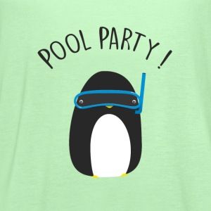 Penguin Pool Party T-Shirts - Women's Flowy Tank Top by Bella