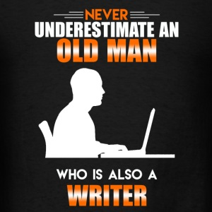 Old Man Writer - Men's T-Shirt