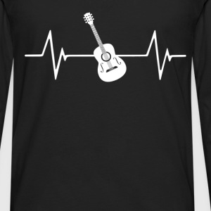 Acoustic Guitar Heartbeat Love T-Shirt T-Shirts - Men's Premium Long Sleeve T-Shirt