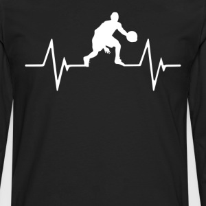 Basketball Heartbeat Love T-Shirt T-Shirts - Men's Premium Long Sleeve T-Shirt