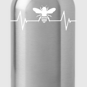 Bees Beekeeping Heartbeat Love T-Shirt T-Shirts - Water Bottle