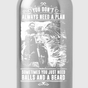 Motorcycle - Balls and Beard - Water Bottle