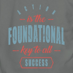 Action is Foundational. Motivational Art - Unisex Fleece Zip Hoodie by American Apparel