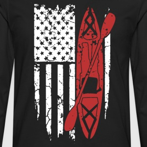 Kayak Flag Shirt - Men's Premium Long Sleeve T-Shirt