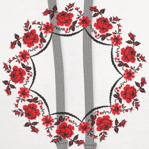 Circle rose cross-stitch pattern - Contrast Hoodie