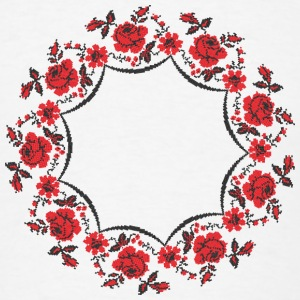 Circle rose cross-stitch pattern - Men's T-Shirt