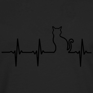 MY HEART BEATS FOR CATS! Polo Shirts - Men's Premium Long Sleeve T-Shirt