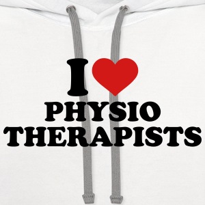 I love physiotherapists T-Shirts - Contrast Hoodie