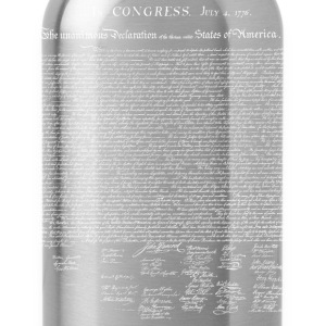 United States Declaration of Independence - Water Bottle