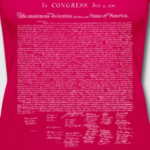 United States Declaration of Independence - Women's Premium Tank Top