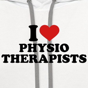 I love physiotherapists Women's T-Shirts - Contrast Hoodie