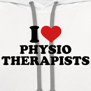 I love physiotherapists Kids' Shirts - Contrast Hoodie
