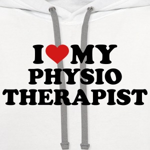 I love my physiotherapist Kids' Shirts - Contrast Hoodie