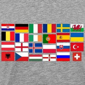2016 Soccer Football with flags Sweatshirts - Men's Premium T-Shirt