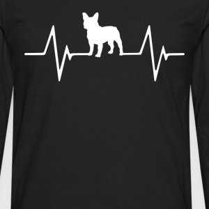 French Bulldog Heartbeat Love T-Shirt T-Shirts - Men's Premium Long Sleeve T-Shirt