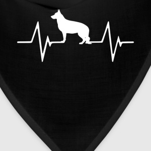 German Shepherd Heartbeat Love T-Shirt T-Shirts - Bandana