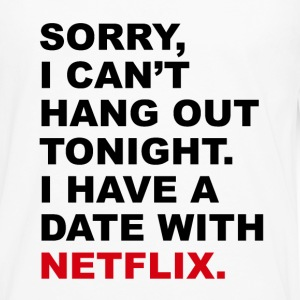 Date with Netflix T-Shirts - Men's Premium Long Sleeve T-Shirt