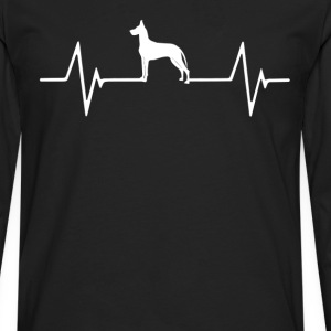 Great Dane Heartbeat Love T-Shirt T-Shirts - Men's Premium Long Sleeve T-Shirt