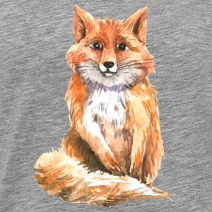 Watercolor fox Tanks - Men's Premium T-Shirt