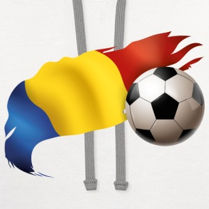 Romania Soccer - Contrast Hoodie