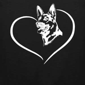 German Shepherd Heart Tee - Men's Premium Tank