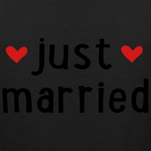 JUST MARRIED T-Shirts - Men's Premium Tank