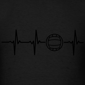 MY HEART BEATS FOR VOLLEYBALL! Hoodies - Men's T-Shirt