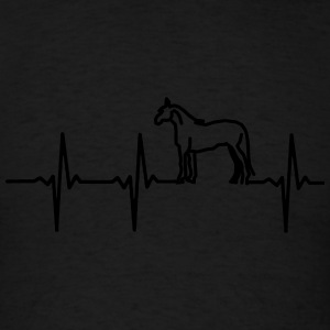 MY HEART BEAT FOR HORSES! Polo Shirts - Men's T-Shirt