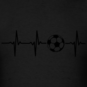 MY HEART BEATS FOR SOCCER Zip Hoodies & Jackets - Men's T-Shirt