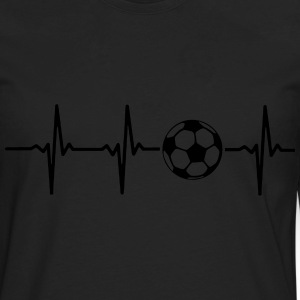MY HEART BEATS FOR SOCCER Hoodies - Men's Premium Long Sleeve T-Shirt