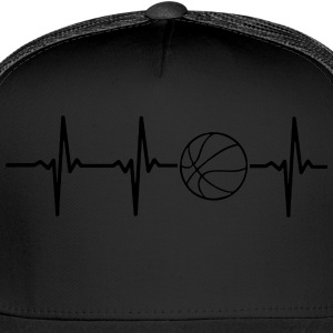 MY HEART BEATS FOR BASKETBALL, T-Shirts - Trucker Cap