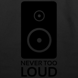 Never Too Loud Speaker T-Shirts - Eco-Friendly Cotton Tote