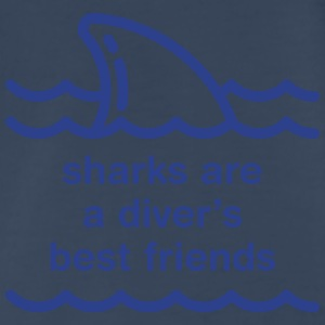 Sharks Best Friend Tanks - Men's Premium T-Shirt